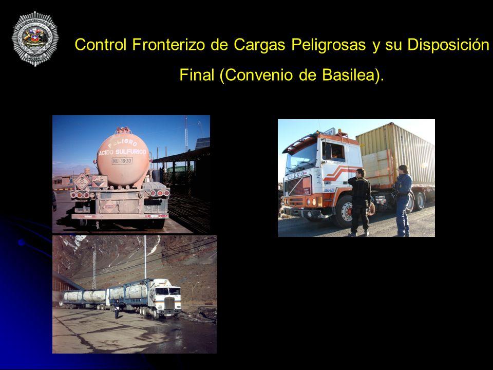 Control Fronterizo de Cargas Peligrosas y su Disposición Final (Convenio de Basilea).