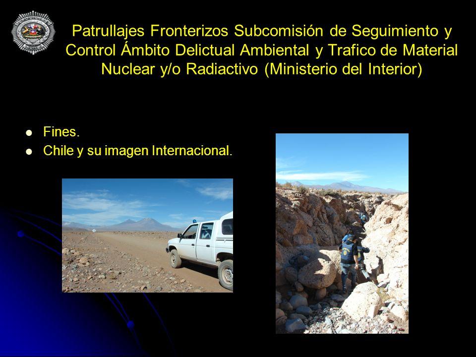 Patrullajes Fronterizos Subcomisión de Seguimiento y Control Ámbito Delictual Ambiental y Trafico de Material Nuclear y/o Radiactivo (Ministerio del I
