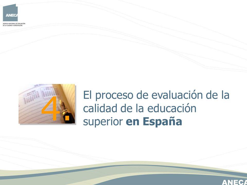 4. El proceso de evaluación de la calidad de la educación superior en España
