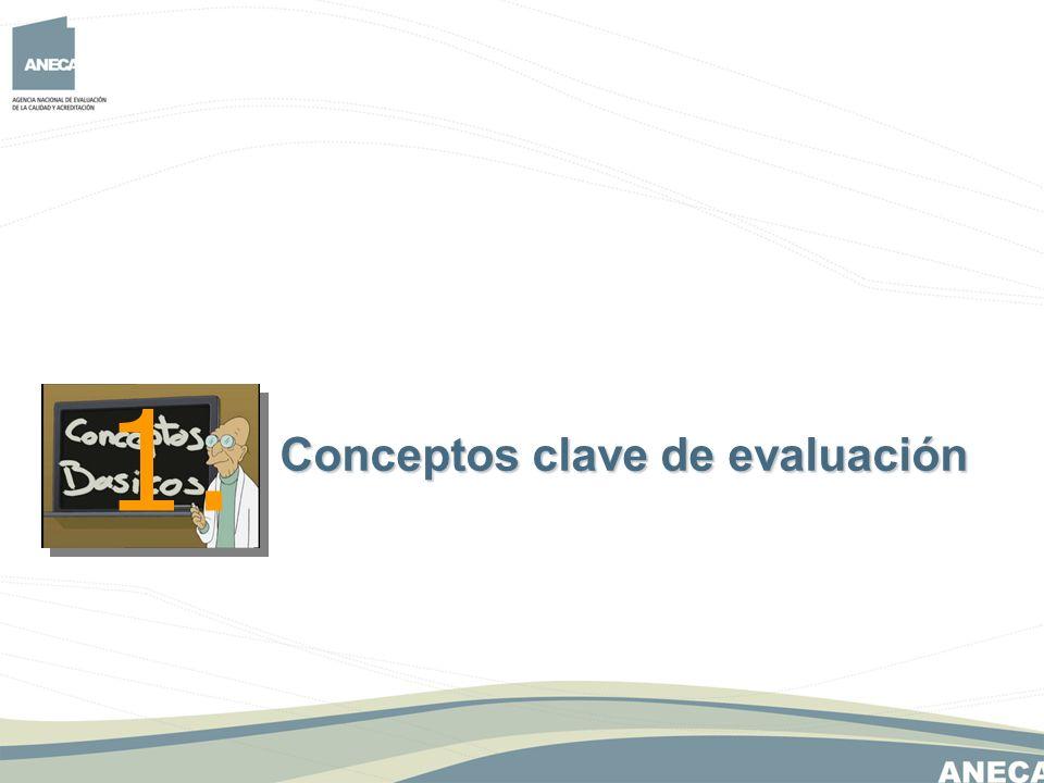 1. Conceptos clave de evaluación