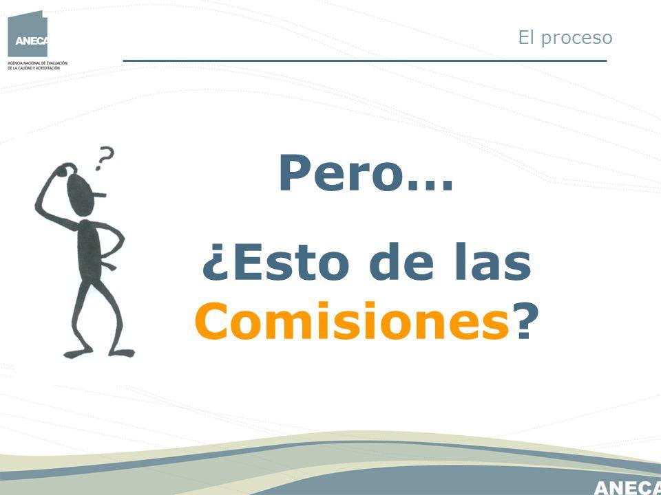 Pero… ¿Esto de las Comisiones? El proceso