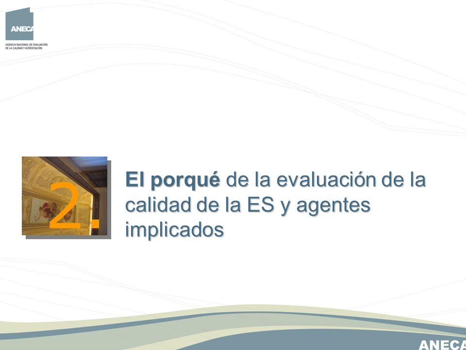 2. El porqué de la evaluación de la calidad de la ES y agentes implicados