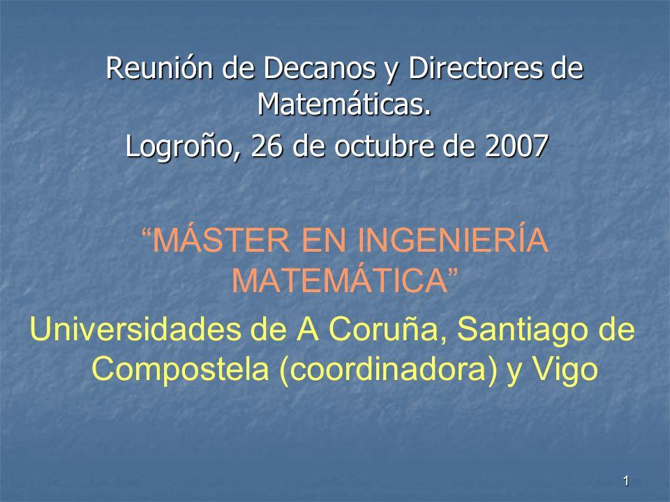 1 Reunión de Decanos y Directores de Matemáticas.