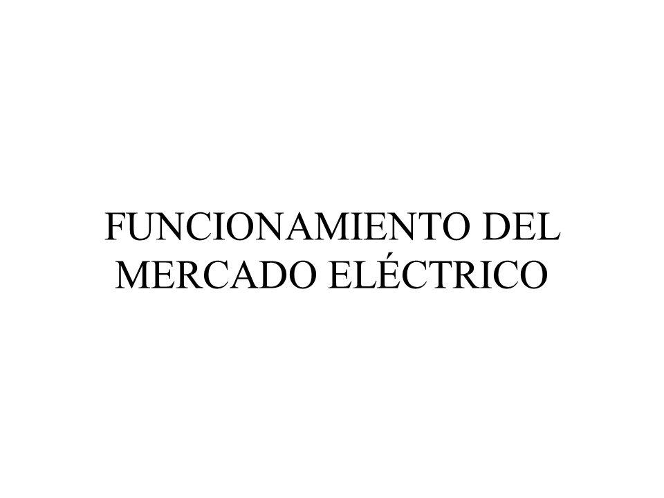 FUNCIONAMIENTO DEL MERCADO ELÉCTRICO