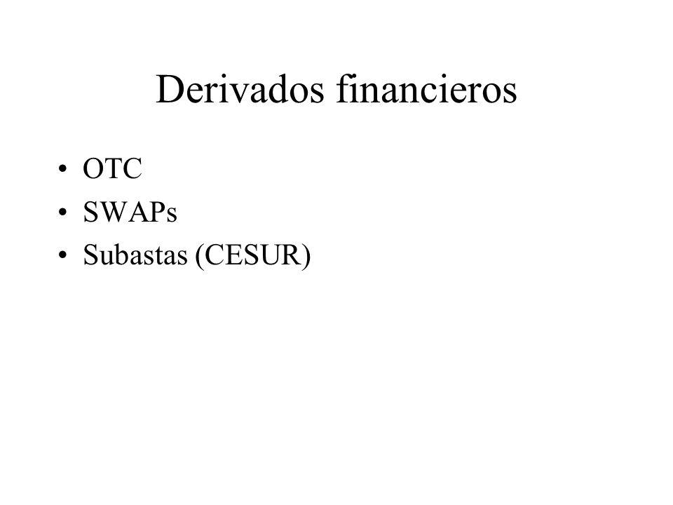 Derivados financieros OTC SWAPs Subastas (CESUR)