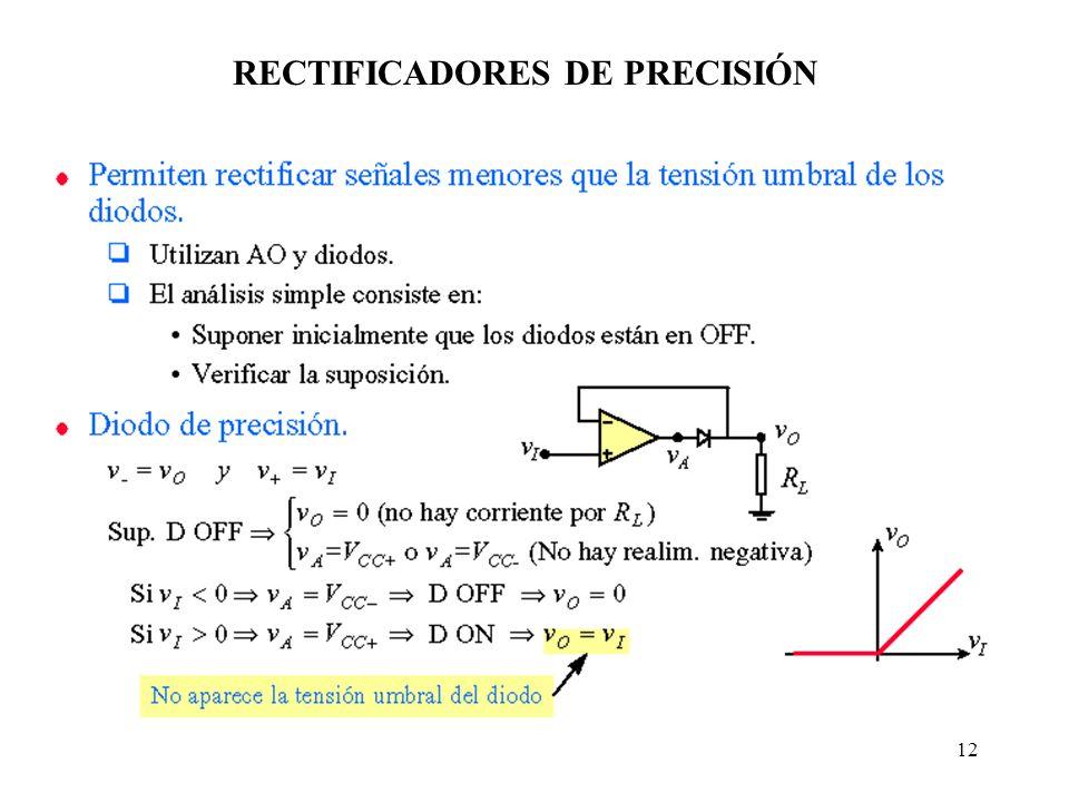 12 RECTIFICADORES DE PRECISIÓN