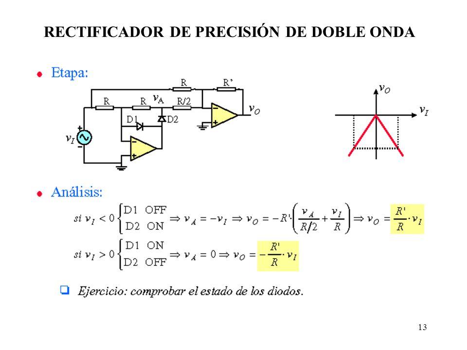 13 RECTIFICADOR DE PRECISIÓN DE DOBLE ONDA