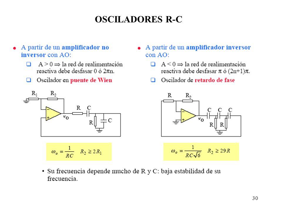 30 OSCILADORES R-C