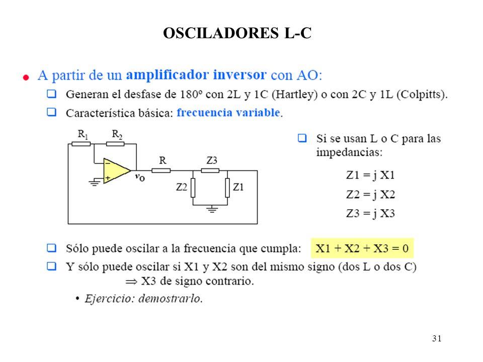 31 OSCILADORES L-C