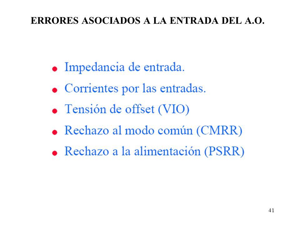 41 ERRORES ASOCIADOS A LA ENTRADA DEL A.O.