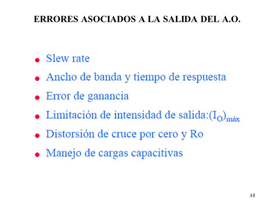 48 ERRORES ASOCIADOS A LA SALIDA DEL A.O.