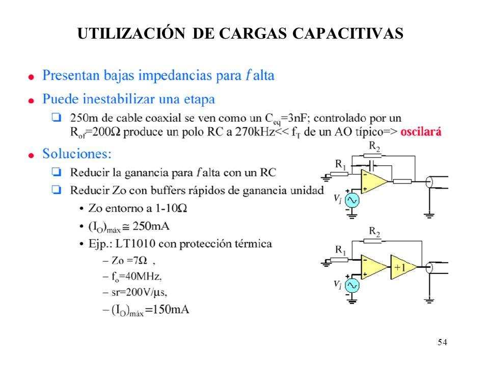 54 UTILIZACIÓN DE CARGAS CAPACITIVAS