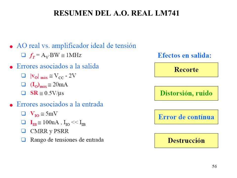 56 RESUMEN DEL A.O. REAL LM741