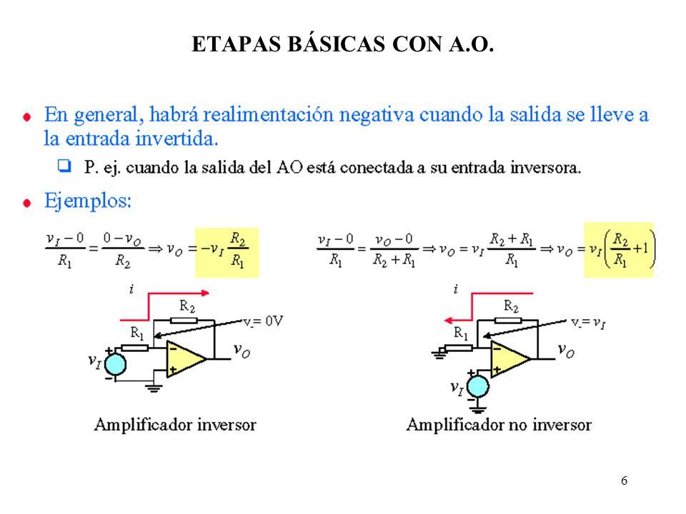 6 ETAPAS BÁSICAS CON A.O.