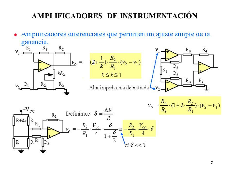 8 AMPLIFICADORES DE INSTRUMENTACIÓN