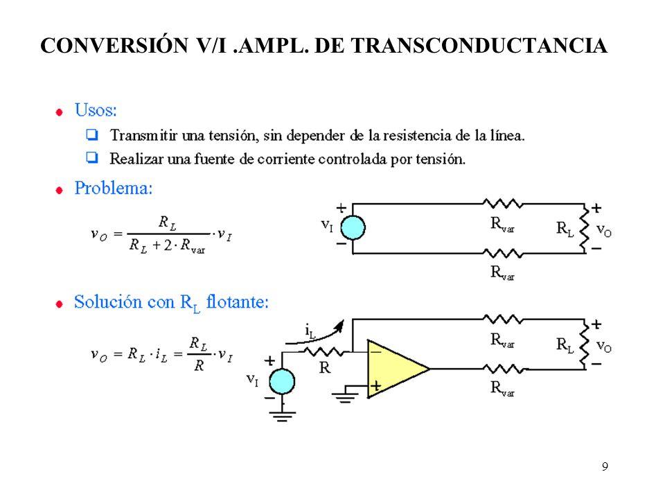 9 CONVERSIÓN V/I.AMPL. DE TRANSCONDUCTANCIA