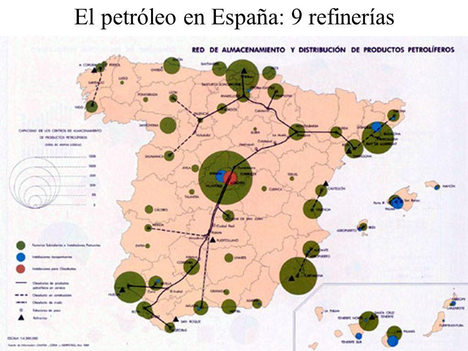 El petróleo en España: 9 refinerías