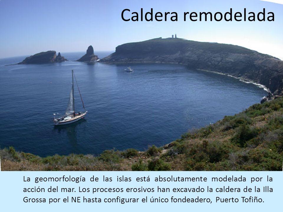 La geomorfología de las islas está absolutamente modelada por la acción del mar. Los procesos erosivos han excavado la caldera de la Illa Grossa por e