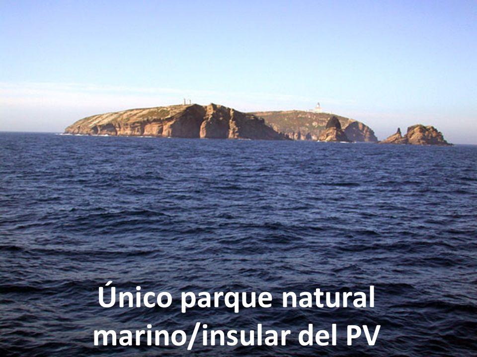 Único parque natural marino/insular del PV
