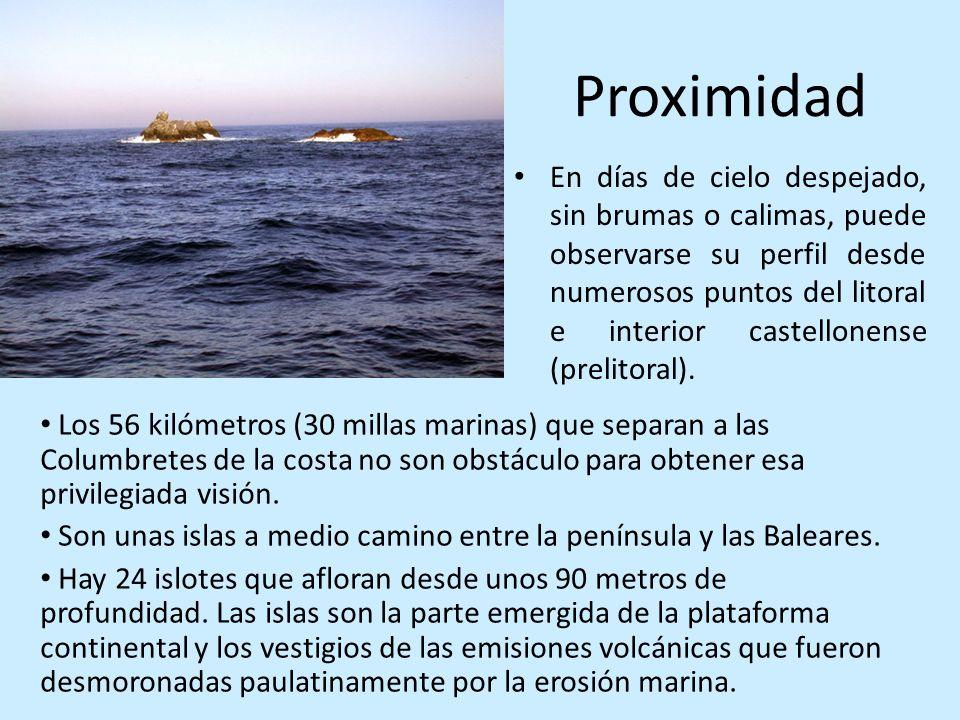 Proximidad En días de cielo despejado, sin brumas o calimas, puede observarse su perfil desde numerosos puntos del litoral e interior castellonense (p