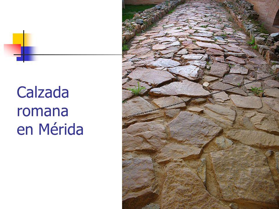 Arte Romano21 Calzada romana en Mérida