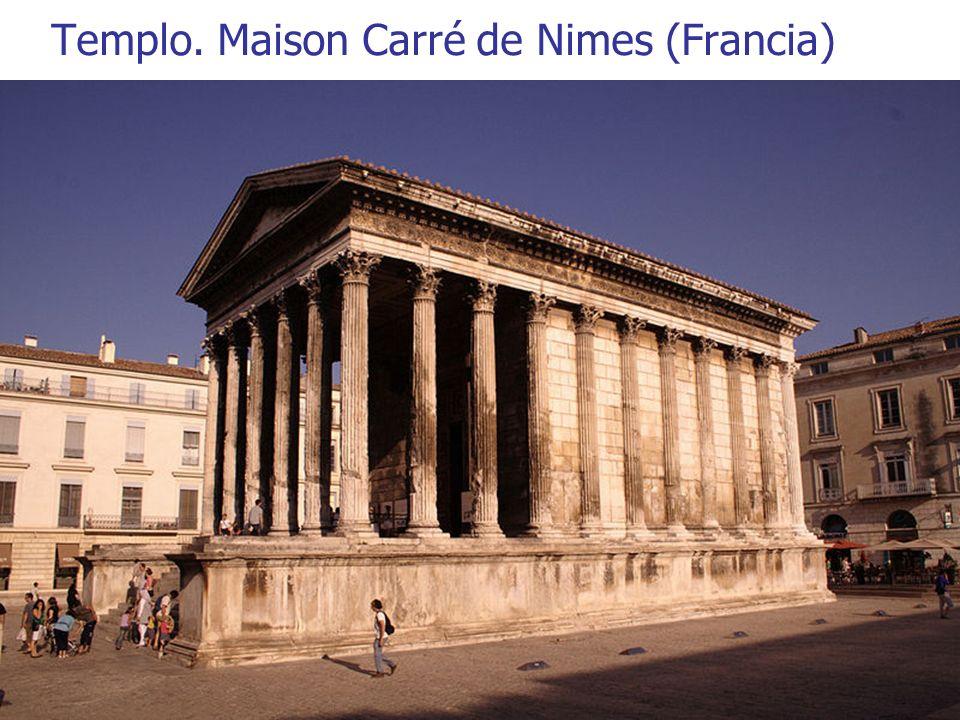 Arte Romano5 Templo. Maison Carré de Nimes (Francia)