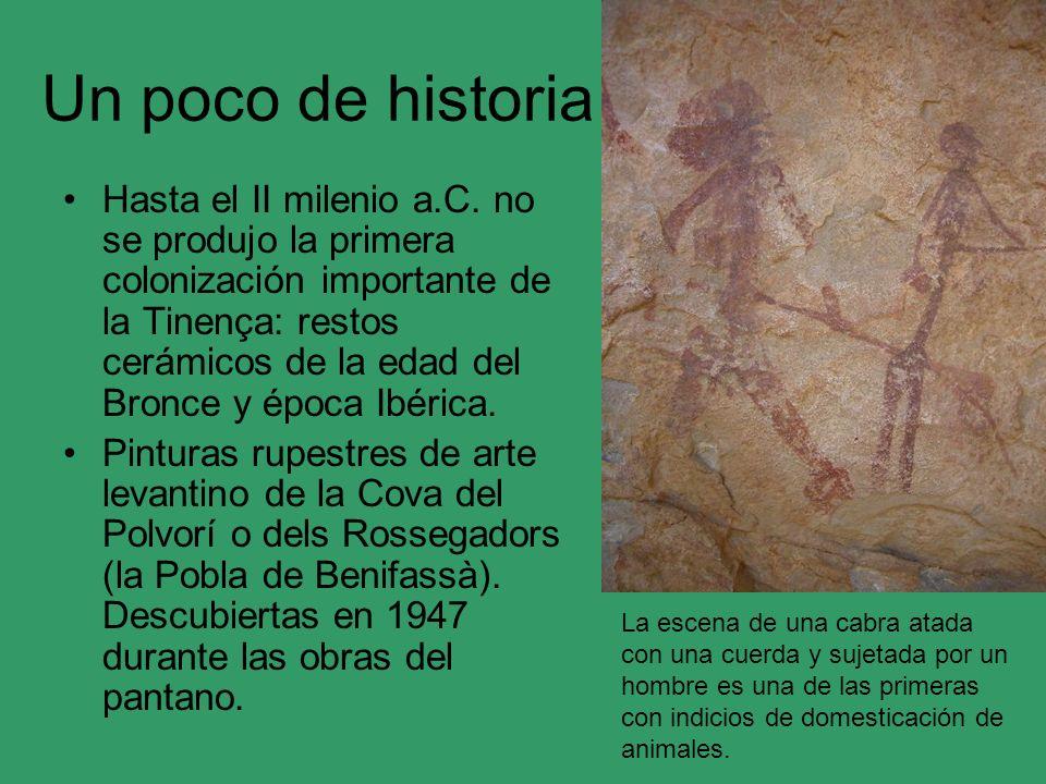 Un poco de historia Hasta el II milenio a.C. no se produjo la primera colonización importante de la Tinença: restos cerámicos de la edad del Bronce y