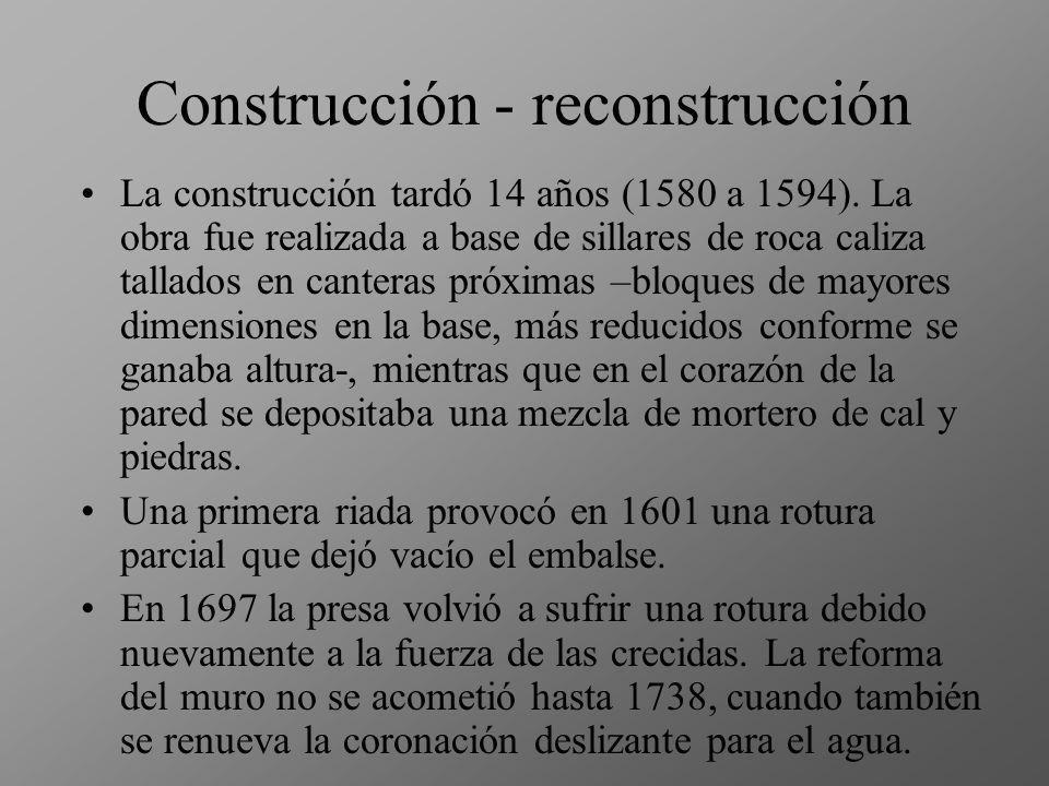 Necesidad de riego: financiación privada Las obras fueron sufragadas por los vecinos de Alicante, cuya huerta ha tenido el riego asegurado durante 450