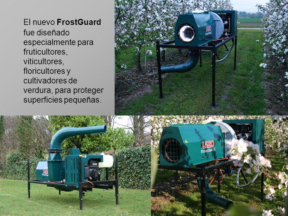 El nuevo FrostGuard fue diseñado especialmente para fruticultores, viticultores, floricultores y cultivadores de verdura, para proteger superficies pe