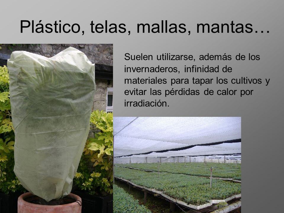 Plástico, telas, mallas, mantas… Suelen utilizarse, además de los invernaderos, infinidad de materiales para tapar los cultivos y evitar las pérdidas