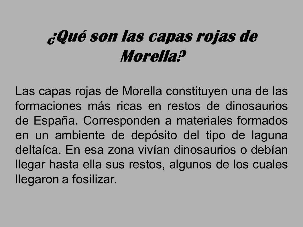 Las capas rojas de Morella constituyen una de las formaciones más ricas en restos de dinosaurios de España. Corresponden a materiales formados en un a