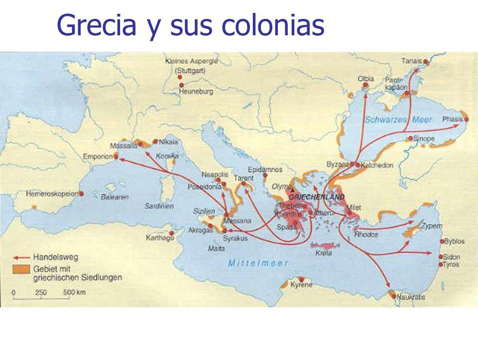 Grecia y sus colonias