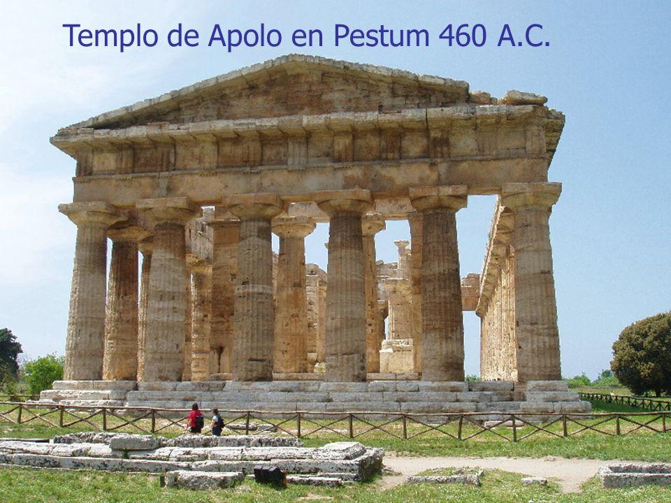 Arte griego6 Templo de Apolo en Pestum 460 A.C.