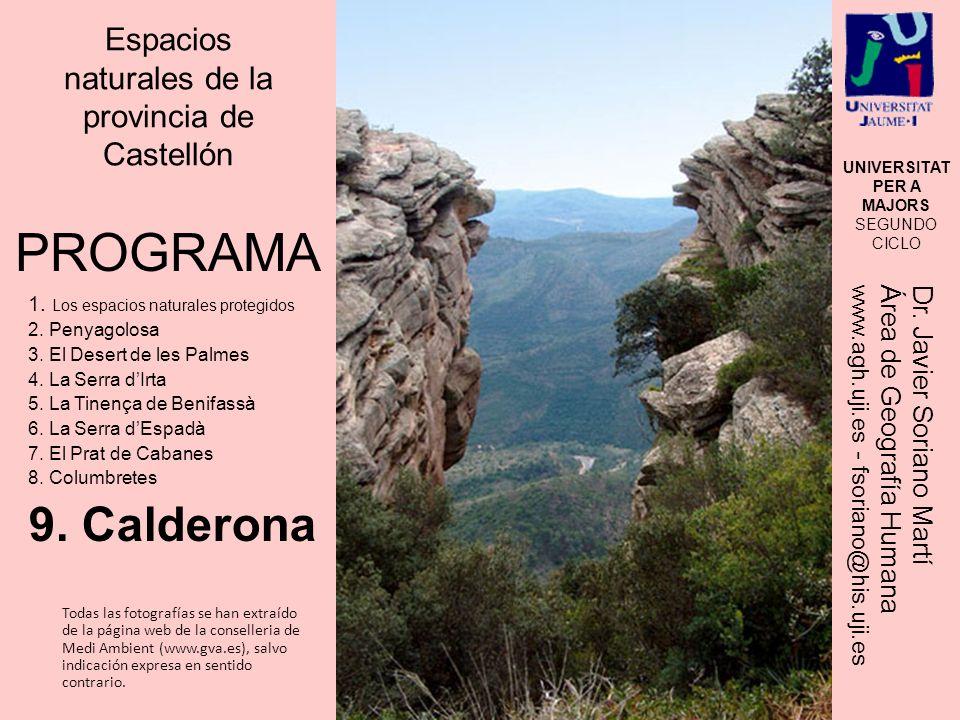 Divisoria de aguas Palancia- Turia Entre las provincias de Valencia y Castell ó n.