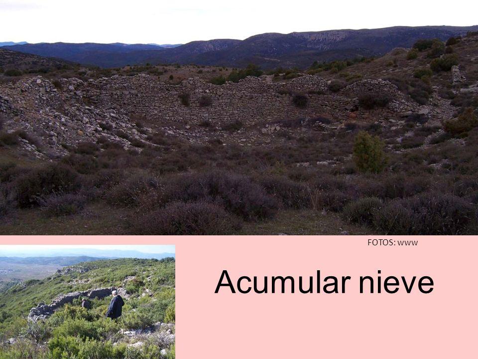 53 ventisqueros Cerro de la Bellida, orientado de NE a SW, entre Sacañet y Canales.