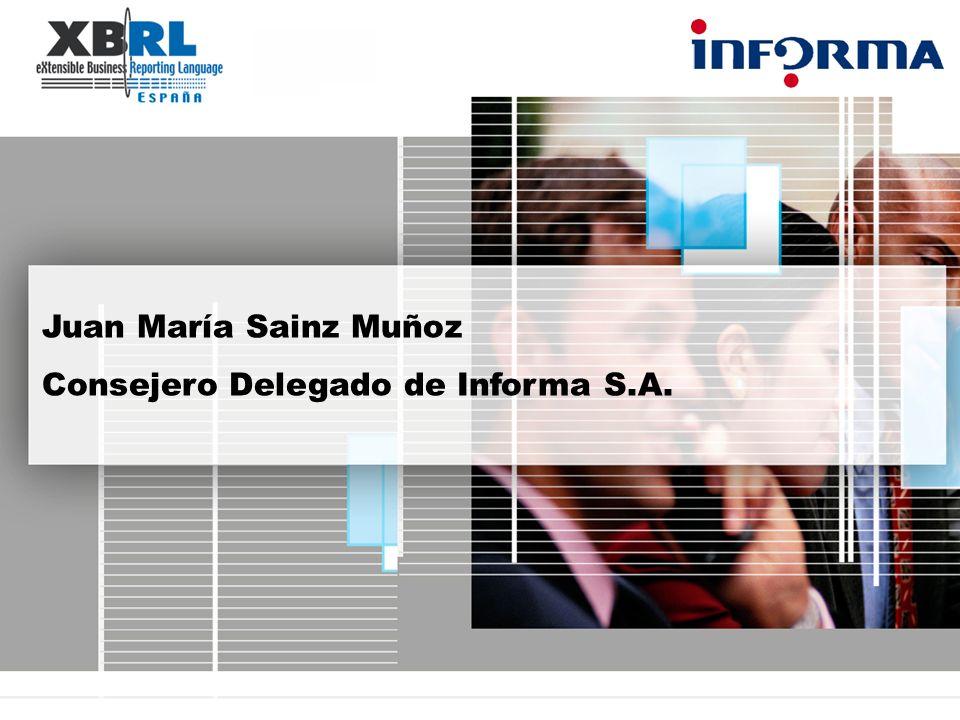 Juan María Sainz Muñoz Consejero Delegado de Informa S.A.