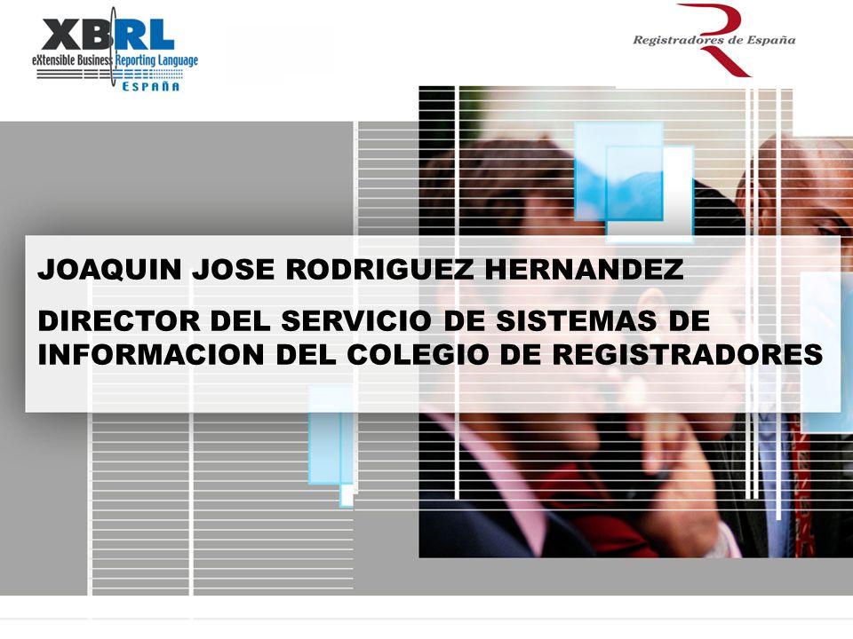 JOAQUIN JOSE RODRIGUEZ HERNANDEZ DIRECTOR DEL SERVICIO DE SISTEMAS DE INFORMACION DEL COLEGIO DE REGISTRADORES