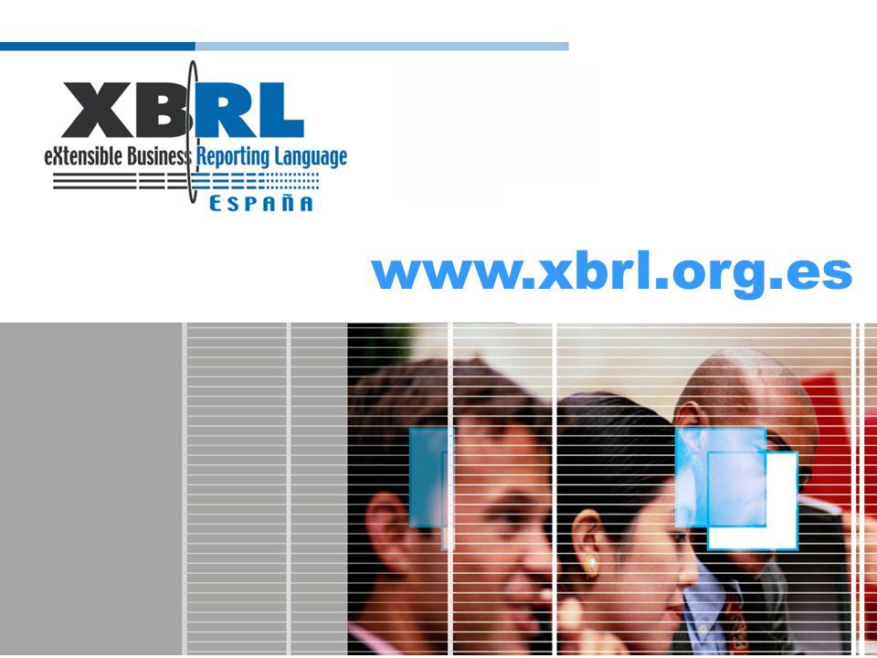 Qué aporta XBRL a la cadena de valor de INFORMA Datos generados por la propia empresa BASE DE DATOS Datos de Registros Públicos Datos de registros privados Datos de elaboración propia CLIENTE Agregación Coherencia Análisis Puesta a disposición Datos de información sobre empresa ¿XBRL?