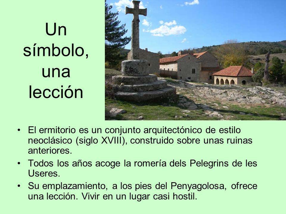 Un símbolo, una lección El ermitorio es un conjunto arquitectónico de estilo neoclásico (siglo XVIII), construido sobre unas ruinas anteriores. Todos