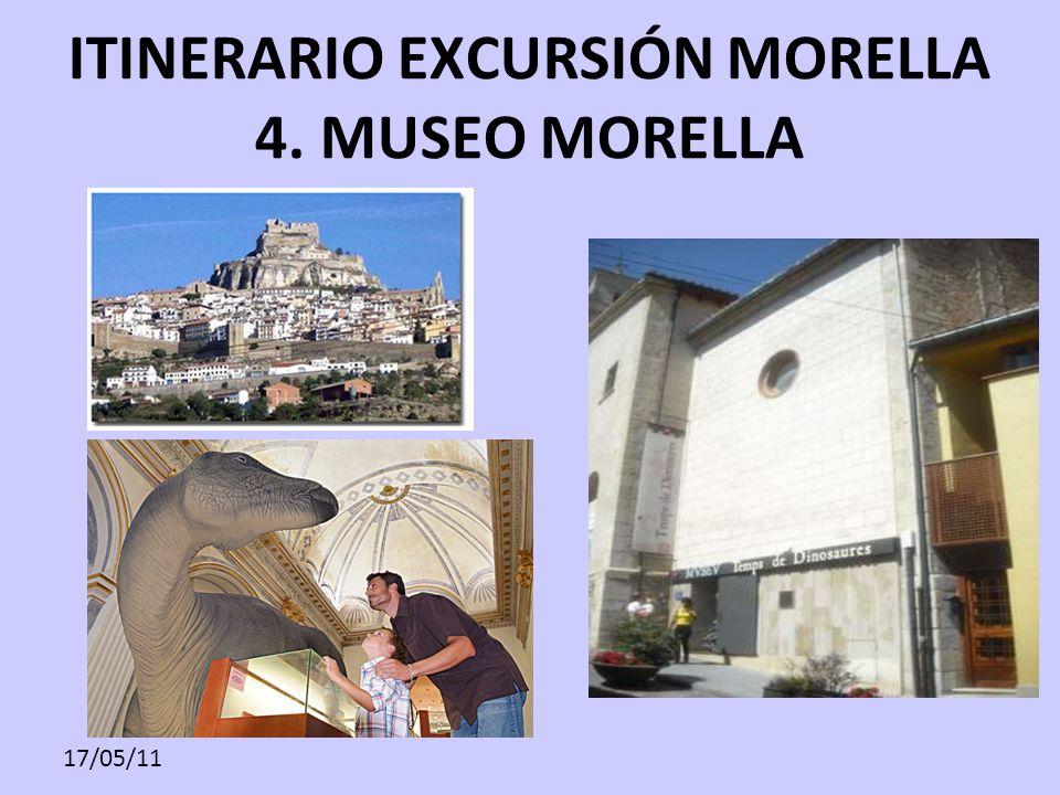 17/05/11 ITINERARIO EXCURSIÓN MORELLA 4. MUSEO MORELLA