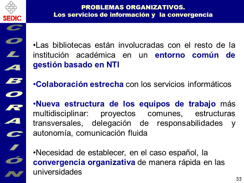33 PROBLEMAS ORGANIZATIVOS.
