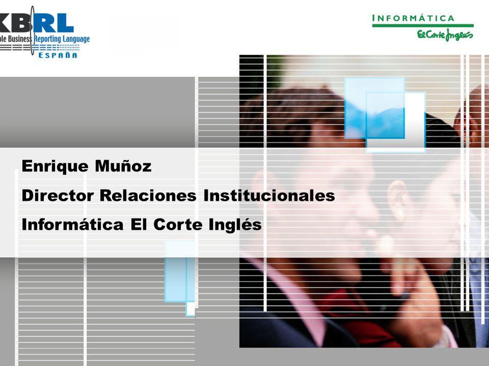 Enrique Muñoz Director Relaciones Institucionales Informática El Corte Inglés