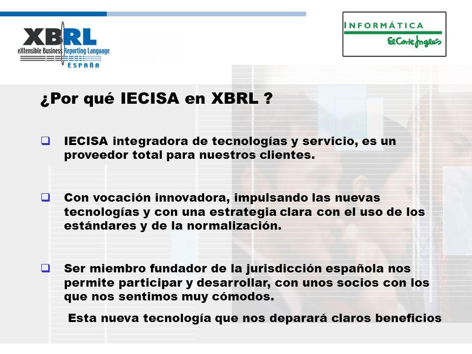 ¿Por qué IECISA en XBRL .