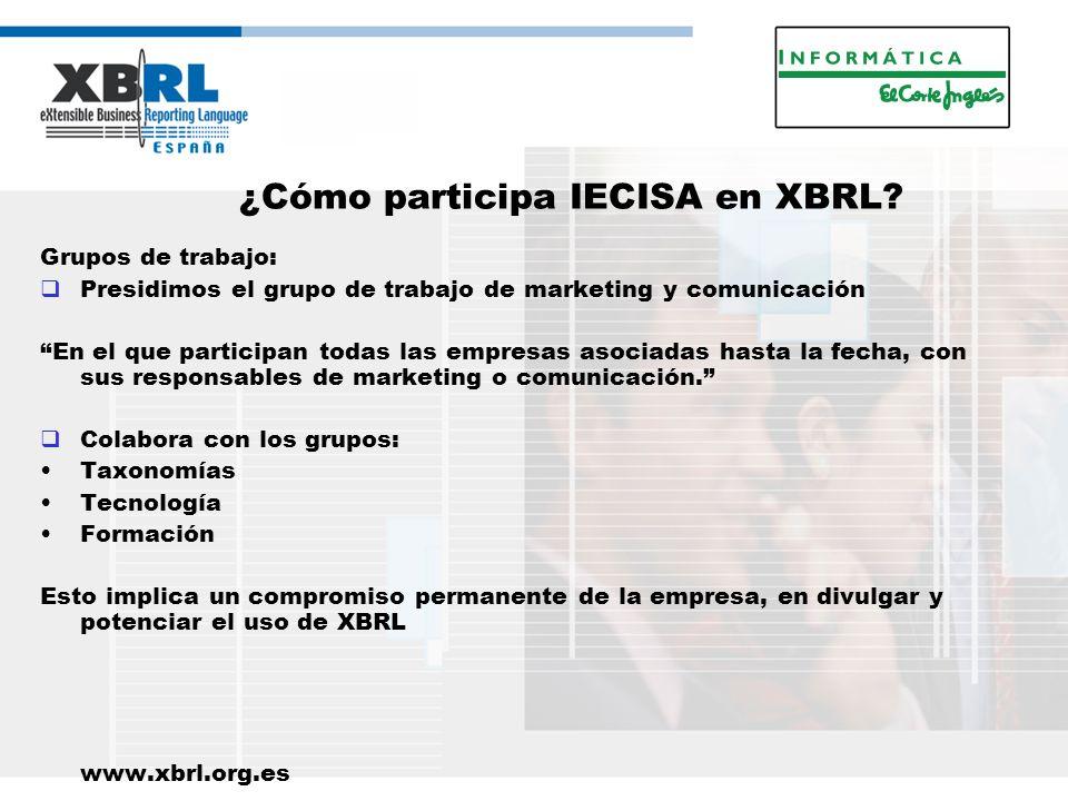 ¿Cómo participa IECISA en XBRL.