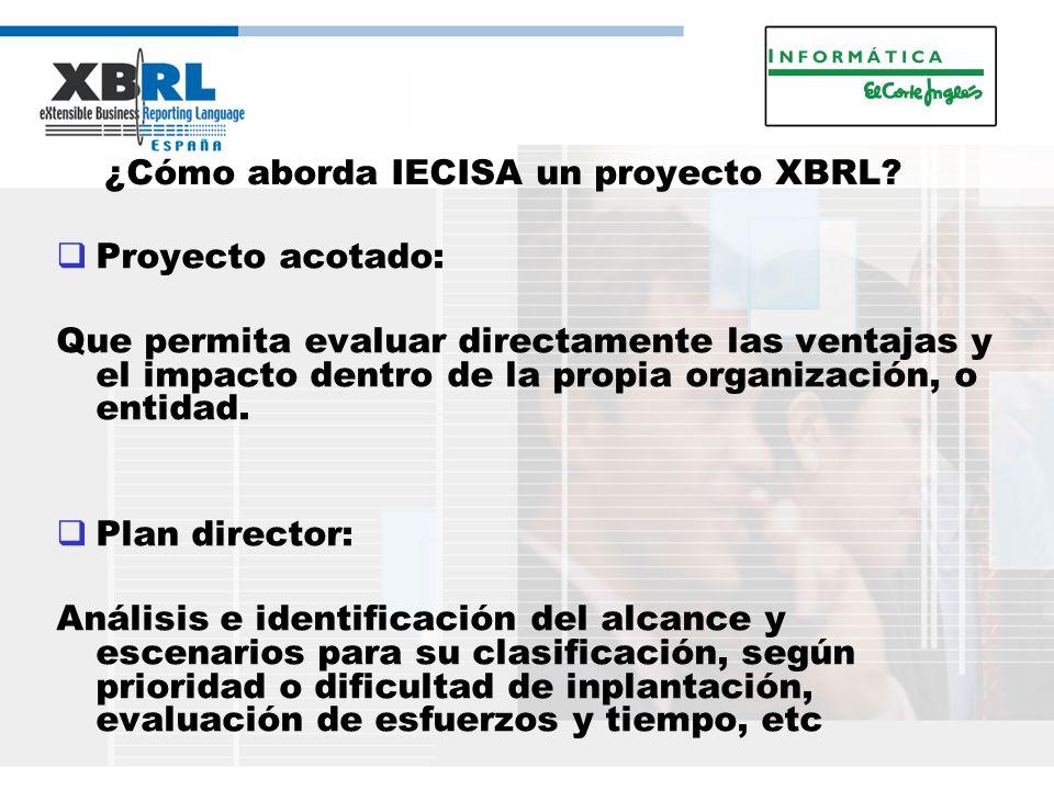 ¿Cómo aborda IECISA un proyecto XBRL.
