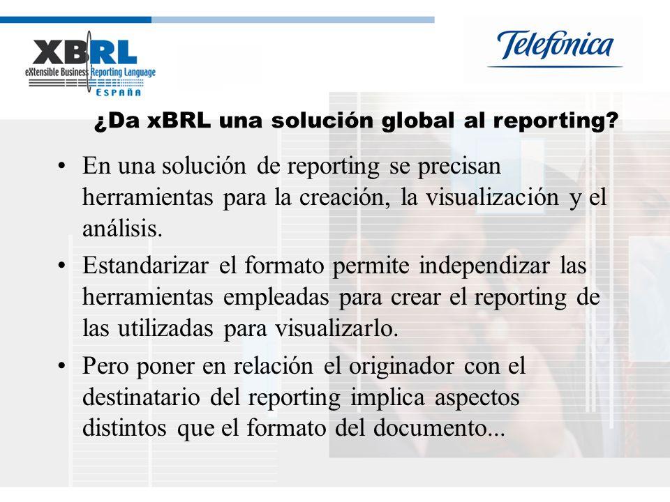 ¿Da xBRL una solución global al reporting.