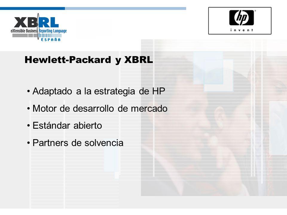 HP, XBRL y la tecnología Infraestructuras de Sistemas de Información Compromiso con los estándares Agilidad Empresarial Innovación