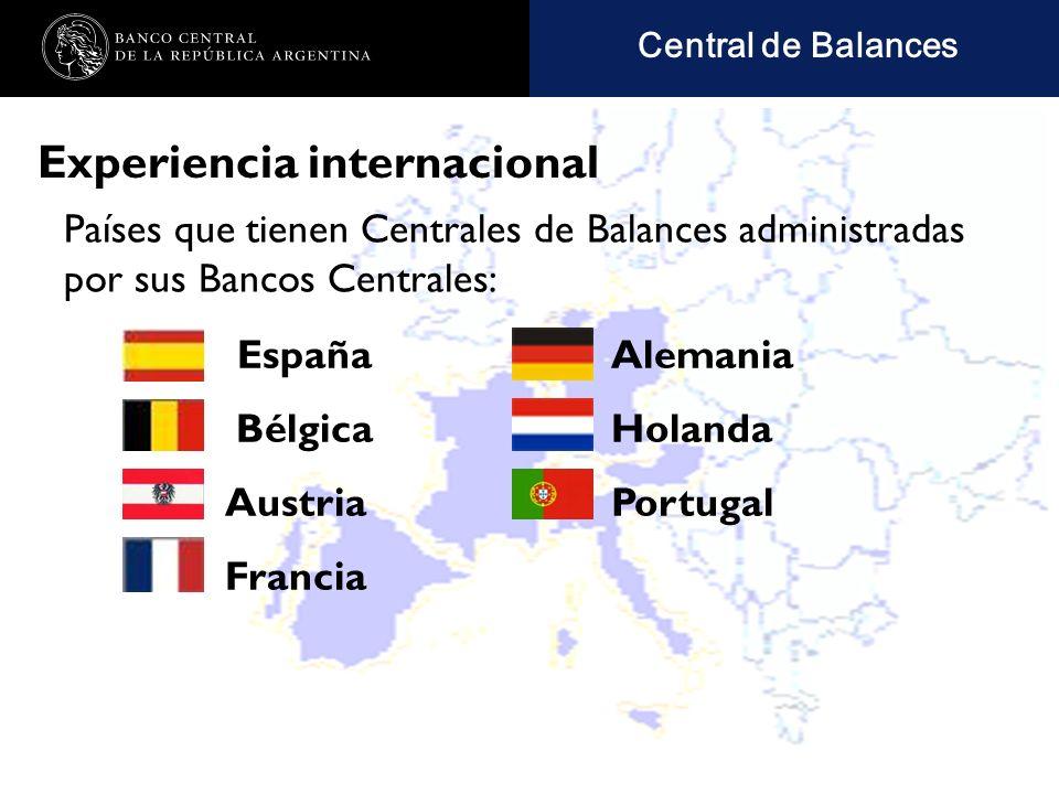 Nombre de la presentación en cuerpo 17 Experiencia internacional Países que tienen Centrales de Balances administradas por sus Bancos Centrales: Central de Balances Alemania Holanda Portugal España Bélgica Austria Francia