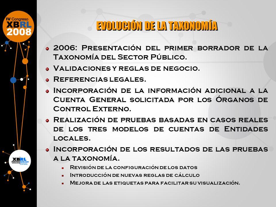 2006: Presentación del primer borrador de la Taxonomía del Sector Público.