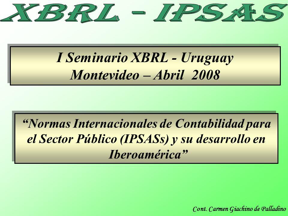 Cont. Carmen Giachino de Palladino I Seminario XBRL - Uruguay Montevideo – Abril 2008 I Seminario XBRL - Uruguay Montevideo – Abril 2008 Normas Intern